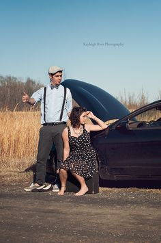 Vintage Couple's Session  Kayleigh Ross Photography