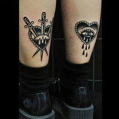 Blackworktattoo #tattoo done by Vassotats lowbrow
