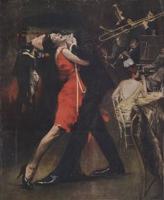 Morton Roberts - Scene from a Chicago jazz club