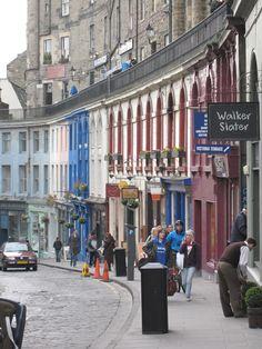 Edinburgh, Scotland The cheese shop!  My favorite street!