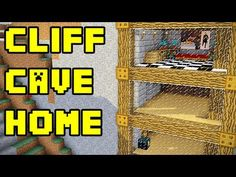 Minecraft: Simple Cliff Cave House Build Tutorial | Minecraft Stream