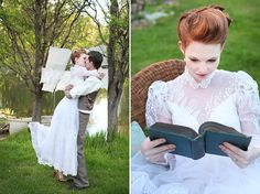 """There was even mini carrot cakes, created by Sweet on You Cakes, plus plenty of books to represent Anne's love of reading - not to mention Anne's must-have puffed sleeves. 