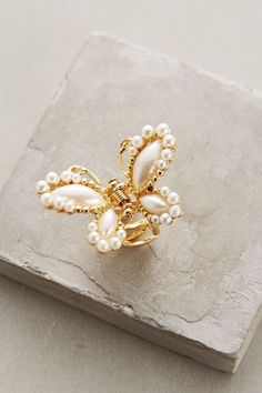 Pearled Clorinde Hair Clip #anthroregistry
