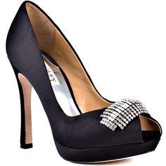 Julia - Black Satin - Yvonne's #shoes