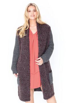 Lana Grossa MANTEL MIT HALBPATENTMUSTER UND GLATT RECHTS Cool Wool Alpaca/Tendenza - FILATI Size Plus - Modell 4 | FILATI.cc WebShop