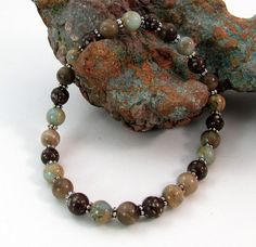 Michigan and African stones combined Petoskey stone, copper firebrick & African opal by rwilberg, $25.00