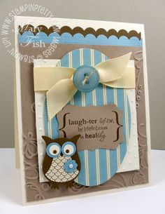 stampin up owl punch cards   ... . Need I say more about the Stampin' Up! Owl Punch and this layout