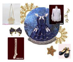 """Navy and stars"" by airastona ❤ liked on Polyvore"