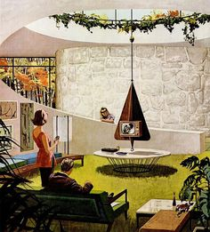 "Motorola Ads ""House of the Future"" by Charles Scridde, early 1960s No. 2"