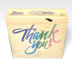 All Night Media The Impressions by Dee Grueing Thank You Rubber Stamp 350F06 #AllNightMedia