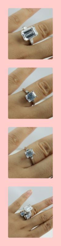 small or bigger?  Love small stone or bigger stone? BTW, which one is 2 carats, do you know?    A:http://www.berricle.com/sterling-silver-925-emerald-cut-cubic-zirconia-cz-solitaire-engagement-ring-r296.htm    B:http://www.berricle.com/sterling-silver-925-emerald-cut-cubic-zirconia-cz-solitaire-ring-r306.htm    C:http://www.berricle.com/jewelry-sterling-silver-925-huge-emerald-cut-cubic-zirconia-solitaire-ring-r382.htm