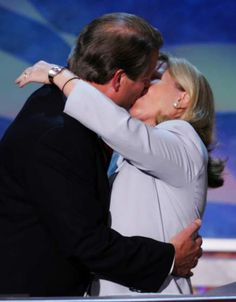 Former Vice President Al Gore is kissed by his wife Tipper, after addressing the delegates at the Democratic National Convention on July in Boston. Al Gore, Democratic National Convention, Vice President, In Boston, Our World, Awkward, Presidents, Kiss, Politics