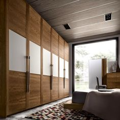 Bedroom Design: 59 ideas wardrobe wood finish and glass panels Wardrobe Interior Design, Wardrobe Door Designs, Wardrobe Design Bedroom, Bedroom Furniture Design, Wardrobe Ideas, Bedroom Ideas, Closet Ideas, Interior Paint, Wardrobe Room