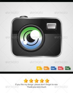 Digital Camera Vector  #GraphicRiver         Digital camera vector Features:    High-Quality Colorful Vector Images.   Color mode: CMYK.   Adobe Illustrator CS 4 and above.   Clean & Modern Style.   Multiple Use for Any Digital Design Projects.   100% Editable and Resizable.   FREE future updates.   Available in PNG,JPG, PSD, AI & EPS.   If you need any help please to let me know, I will help you as best as I can. Please don't forget to rate, Thank you. 	 keywords: digital, camera, Polaroid…