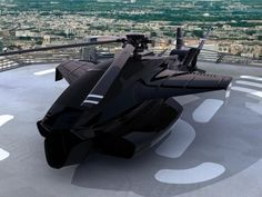 Futuristic Helicopter, Stealth Chopper, future vehicle, futuristic vehicle, futuristic aircraft, black helicopter, concept, innovation, fly
