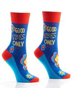Good Vibes Women's Crew Socks , Socks - Yo Sox, USA Yo Sox - 1