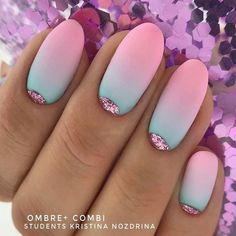 Matte Ombre Nails With Pink Glitter Moons ★ They say summer comes only when you choose perfect summer nail designs. Dark Nail Designs, Nail Art Designs, Nails Design, French Nails, Acrylic Nails, Gel Nails, Dark Nails, Coffin Nails, Coffin Acrylics