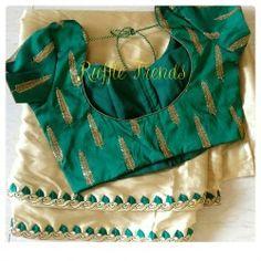 Satin saree with rich work ready wear blouse