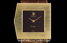 #Rolex 18k Y/G Maroon Dial Left Handed #KingMidas #Cellini #Vintage Gents King Midas, Rolex Cellini, Left Handed, Clock, Vintage, Clocks, Watch, Vintage Comics