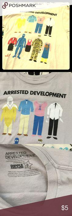 Arrested Development tv Netflix funny tee EUC women's small cotton tee ripple junction Tops
