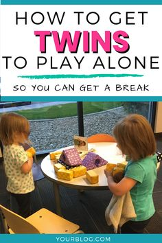 Parenting tip for toddler twins: Your twins need to play by themselves. Life with twins is busy, so you need a break, and it is a life skill to entertain yourself. Here is how to get your twins to play alone. Get twin hacks and toddler tips to help your twins play alone. Independent playtime for twins. Twin mom advice. Toddler twin tips. Toddler parenting tips. #toddlertwins #twintips #independentplaytime #toddlerplay #twinplay Team-Cartwright.com Toddler Twins, Twin Toddlers, Toddler Play, Twins Schedule, Breastfeeding Twins, Twin Tips, Nursery Twins, Raising Twins, Twin Mom