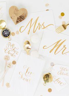 Wedding Signs, Favor Bags, Coasters – Laura Hooper Calligraphy
