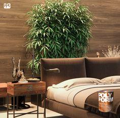 El color verde de las plantas es ideal para contrastar los tonos tierra de tus paredes de madera. ¡Utiliza Polyform y resalta aún más el acabado de las mismas! #ProductosComex #Deco #Ideas #Plantas #Madera #Comex #Lifestyle #Home #Interior