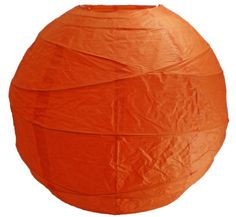 "Mango Orange Large Paper Lanterns 18"" bamboo & rice paper  $9.99 / 4 for $8.99 each"
