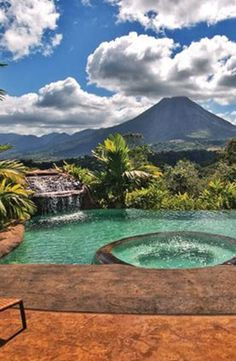 Arenal Volcano, Costa Rica I vacationed there a few years ago. So wonderful to bathe in the warm waters of the natural hot springs. -DM