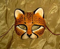 Cheetah Mask Custom Made 4 U for Renaissance Masquerade Punk Goth LARP Cosplay
