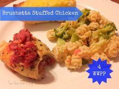 Brushetta Stuffed Chicken Only 4 Weight Watchers Points Plus