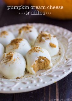 ✨ Pumpkin Cream Cheese Truffles✨ #Food #Drink #Trusper #Tip