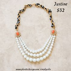 Plunder Design offers chic, stylish jewelry for the everyday woman. We offer a wide variety of pieces at affordable prices. Pearl Necklace, Beaded Necklace, Necklaces, Plunder Jewelry, Plunder Design, Stylish Jewelry, Vintage Jewelry, Sparkle, Pearls