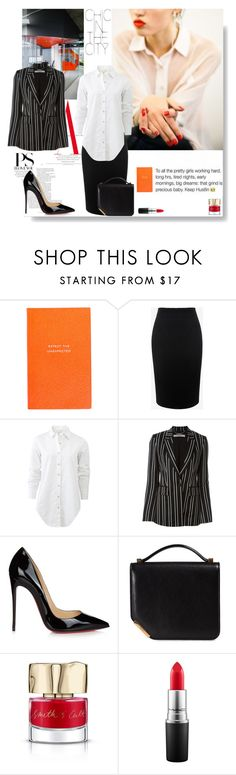 """""""Did you say red ?....."""" by sue-mes ❤ liked on Polyvore featuring WALL, Smythson, Alexander McQueen, rag & bone, Givenchy, Christian Louboutin, Bally, Smith & Cult and MAC Cosmetics"""