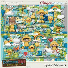 "BoomersGirl Designs: ""Spring Showers"" Digital Kit"