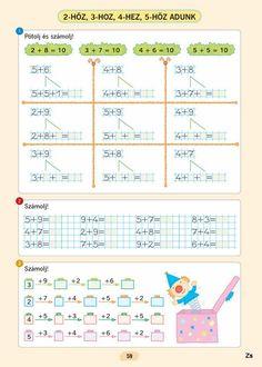 Matematika gyakorló - 1. osztály - Mozaik kiadó - Kiss Virág - Picasa Webalbumok Math Games, First Grade, Worksheets, Activities, Teaching, School, Archive, Math Lessons, Index Cards