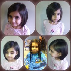 Long hair to a Short Bob- Here's one of the Most Beautiful Little Girl I know ❤️ . Little Ms. Tatianna . I just Love it when the Little one comes in and knows exactly what they want ... From Long Hair to a Short slightly textured Bob HairCut ... I just Love Love Short Hair on Little Girls .. I think that it's just Simply Adorable ❤️. Hair Done By Kech C.  #SheLovesIt #SimplyPrecious