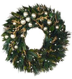christmas wreath silver - Google Search