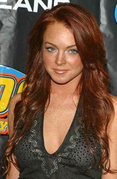 Lindsay Lohan et sa coloration blond cuivré! Au top de la mode!
