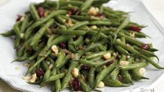 Cranberry and hazelnut add a distinctive flavor to this easy green beans side dish - ready in 20 minutes!