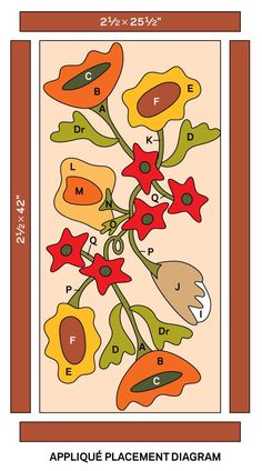 Fall bouquet Patchwork Table Runner, Applique, Fall Bouquets, Penny Rugs, Wool Felt, Doodles, Templates, Embroidery, Drawings