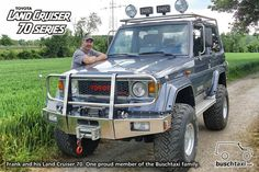 Frank and his Land Cruiser 70 Series. One proud member of the Buschtaxi family…