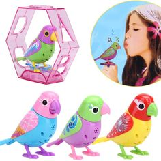20 Songs Singing Sound Birds Pets Sing Solo intelligent Music Toys Digibirds Music Bird for Kids Childrens Electric Toy