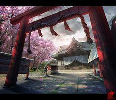 shrine by ~zhaoenzhe on deviantART