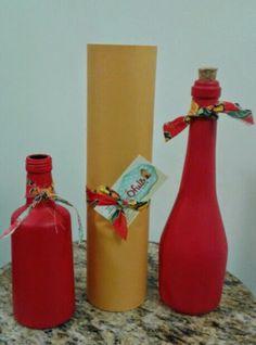 Arte em garrafa.