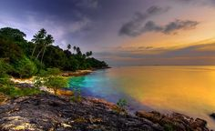 Sunset at `tropical Beach Ii. Like this? More amazing pics @ amartimages.photodeck.com