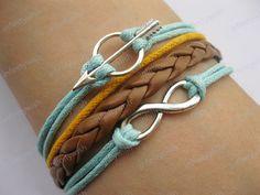 Bracelet-antique silver infinity bracelet,arrow bracelet -Z191. $7.99, via Etsy.