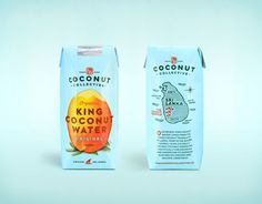 Package design for The Coconut Collective's new line of organic waters