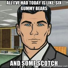 Sterling Archer... Both hilarious and oddly attractive (in a fictional cartoon character sort of way).