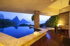 31 Most Romantic Island Getaways - Jade Mountain, St. Lucia